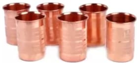 Pure Copper Lining Glass For Good Health Benefits, Pack of 6