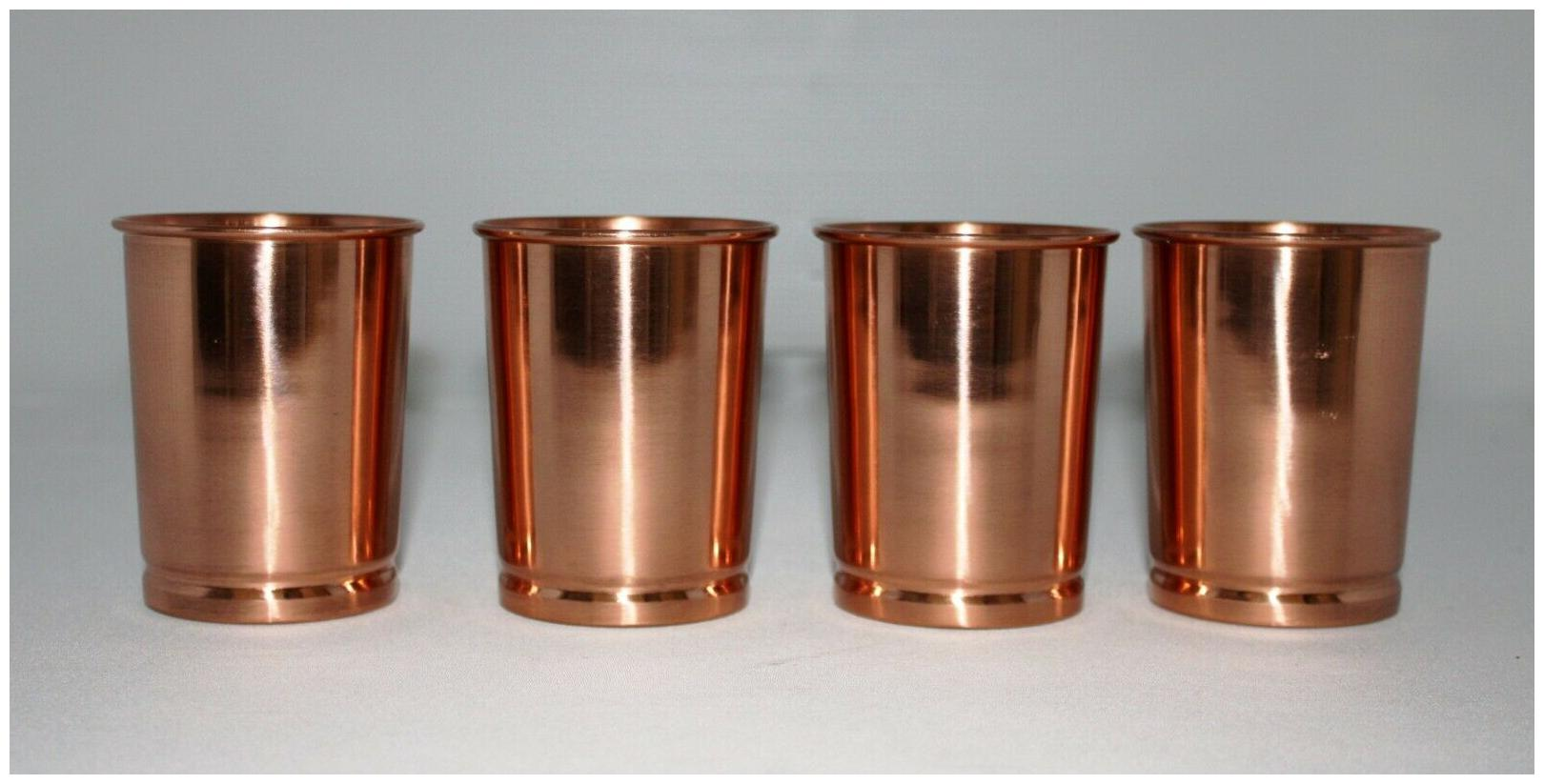 Pure Copper Plain Rings Glass Capacity 300 ml Drink-ware Serve-ware Glass-Set-2