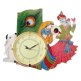 PURUSHOTTAM KABIR ART Wood Analog Wall clock ( Set of 1 )