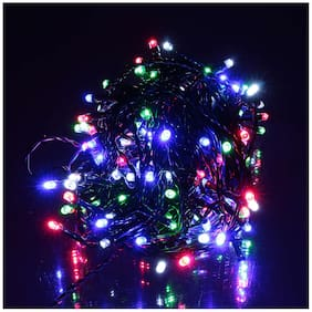Purvani 12 Metre Long Multi Colored Diwali Decorative LED string Lights for Diwali/Festival/Wedding/Gifting/Xmax/New Year Decoration -Multi COLOR