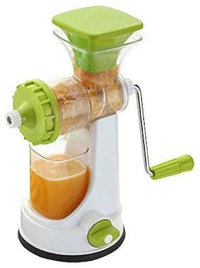 QROMOS Fruit Juicer/Vegetable Juicer/Manual Juicer/Plastic Hand Juicer(Light Green & White)
