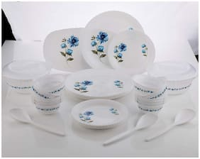 QROMOS Plastic Dinner Sets - Set of 32 , White