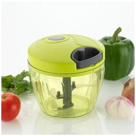 Qromos Vegetable And Onion Chopper 650 ml -Set Of 1 (Green)
