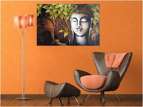 Qth Gautama Buddha Wallpaper For Home Decoration Vinyl Wall Sticker (Size- 45X30 Cm)