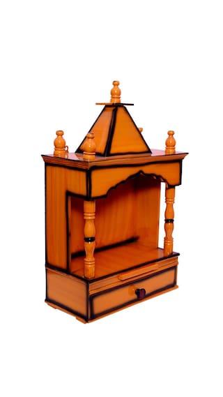Quality Creations Home temple/Pooja mandir/Wooden temple/Temple for home/Mandir/Wood home temple