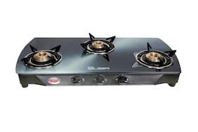 Quba 3 Burner Automatic Regular Assorted Gas Stove