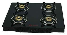 Quba Quba 4 Burner Automatic Regular Black Gas Stove