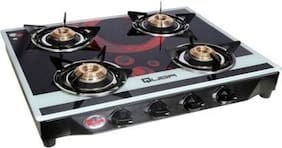 Quba B4 Pink Circle Rectangular Digital Glass  Gas Stove  Automatic  (4 Burners)