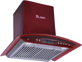 Quba 60 cm 1200 m3/h Push button control Stainless steel Chimney - 190 watts , Red , 4715