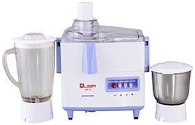 Quba Jm-75 500 Watts 2 Jars Juicer Mixer Grinder ( White & Blue )