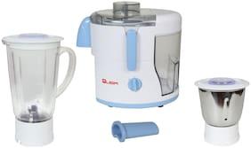 Quba JM-80 500 Juicer Mixer Grinder ( White & Blue , 2 Jars )