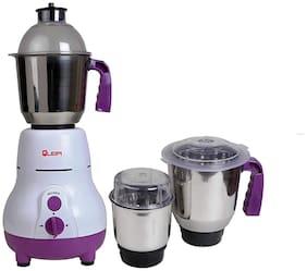 Quba MG-104 600 W Mixer Grinder ( White & Purple , 3 Jars )