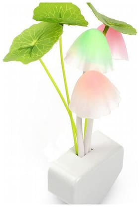 Qubeplex Plastic Abstract White Night lamps ( 1pc )