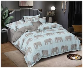 Queen size bedding set with 1 bedsheet 2 pillow cover with 1 comforter