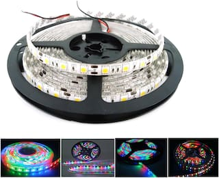 QUXXA 5meter 15foots Strip Light Waterproof Dustproof Led Bulb Strip Light With Adapter Multicolor Color