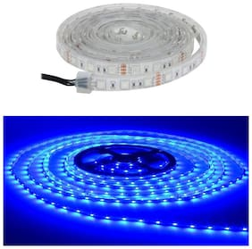 QUXXA 5meter 15foots Strip Light Waterproof Dustproof Led Bulb Strip Light With Adapter Blue Color