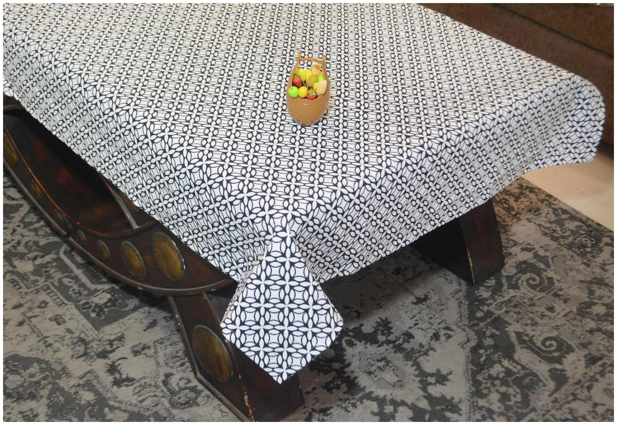 R home Printed 4 Seater Table Cover