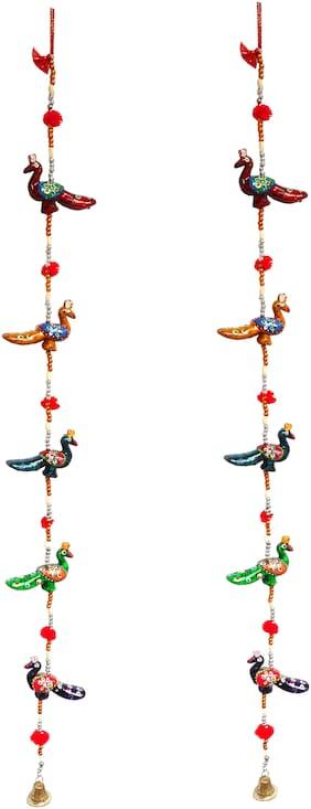 RA-Rock Jaipuri Handmade Mayura Decorative Door Hanging/ Latkan