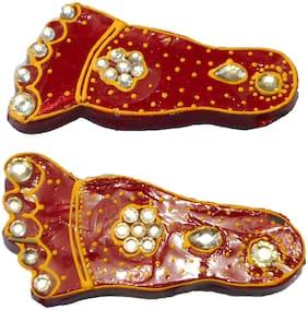 RA-Rock Jaipuri Handmade Wooden Decorative Laxmi Foot Door