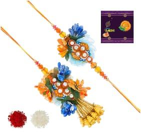 RA-Rock Multicolor Flawer Pair Set Set For Bhaiya And Bhabhi (ARR211122)