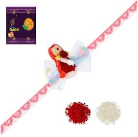 RA-Rock Multicolor Girl Baby Kids Rakhi Set (ARR211021)