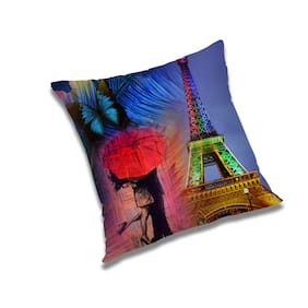 RADANYA 3D Printed Cushion Cover with Filler Set 24x24 Inch