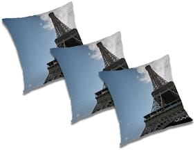 RADANYA 3D Printed Cushion Cover (Set of 3) 16x16 Inch
