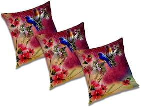 RADANYA 3D Printed Cushion Cover (Set of 3) 18x18 inch