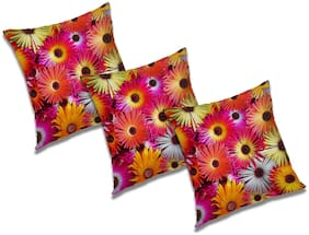 RADANYA 3D Printed Cushion Cover with Filler (Set of 3) 16x16 Inch