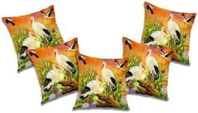 RADANYA 3D Printed Cushion Cover (Set of 5) 16x16 inch