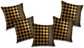 RADANYA 3d printed Polyester Brown Cushion Cover ( Extra large , Pack of 5 )