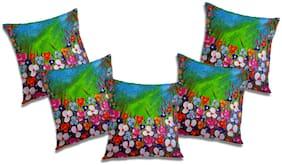 RADANYA 3D Printed Cushion Cover (Set of 5) 24x24 inch
