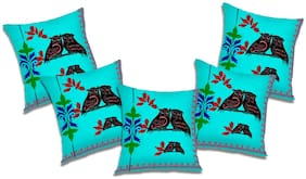 RADANYA 3D Printed Cushion Cover (Set of 5) 20x20 inch