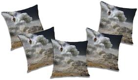 RADANYA Abstract Cushion Cover (Set of 5) 12X12 inch