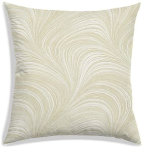 RADANYA Abstract Polyester Beige Cushion Cover ( Small , Pack of 1 )