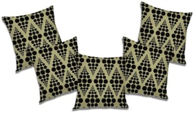 RADANYA Abstract Polyester Black Cushion Cover ( Extra large , Pack of 5 )
