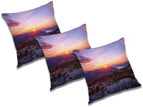 RADANYA Abstract Cushion Cover with Filler (Set of 3) 12X12 Inch