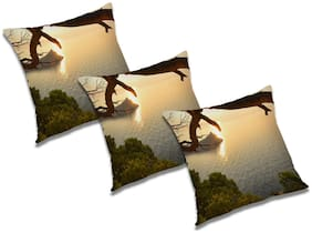 RADANYA Abstract Cushion Cover (Set of 3) 16x16 inch