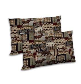 RADANYA Polyester Animal Pillow Covers ( Set of 2 , Multi )