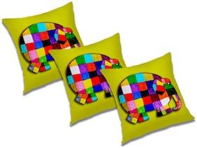 RADANYA Cartoon Cushion Cover (Set of 3) 24x24 inch