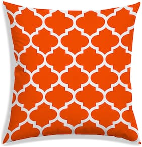 RADANYA Abstract Polyester Orange Cushion Cover ( Regular , Pack of 1 )