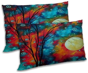 RADANYA Polyester Floral Pillow Covers ( Pack of 2 , Multi )