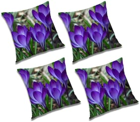 RADANYA Floral Cushion Cover (Set of 4) 24x24 inch