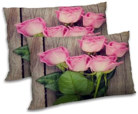 RADANYA Floral Printed Pillow Covers - 18x27 inch