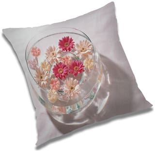 RADANYA Floral Cushion Cover 24x24 inch