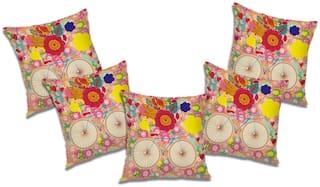RADANYA Floral Cushion Cover (Set of 5) 20x20 inch