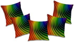RADANYA Geometric Cushion Cover (Set of 5) 24x24 inch