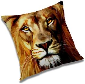 RADANYA Loin Printed Cushion Cover Orange,24x24 inch
