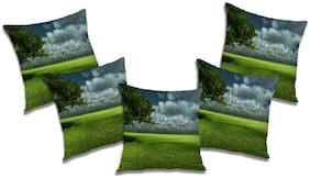 RADANYA Natural Cushion Cover (Set of 5) 12X12 Inch