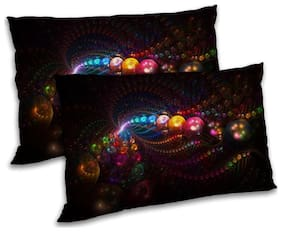 RADANYA Polyester Printed Pillow Covers ( Pack of 2 , Multi )